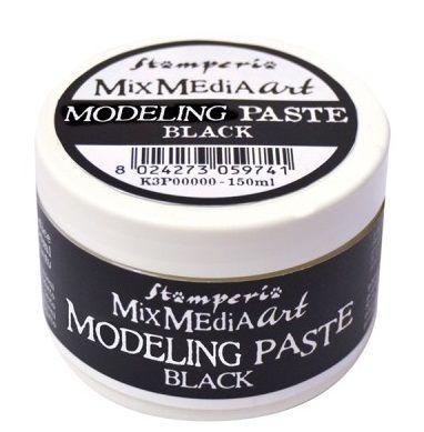 ANTICO Modeling paste, Stamperia - ART паста 150 мл. BLACK
