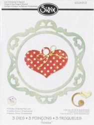 LOVE Thinlits Die Set 3PK -  ЩАНЦИ 3 бр ORNAMENTAL LOVE