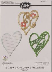 HEARTS by SIZZIX  Die - ЩАНЦИ 3бр Layers of Love