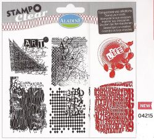 ALADINE Stampo Clear , France - Дизайнерски печати 6бр  / 15Х15см