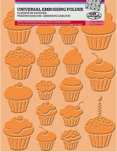 CRAFT CONCEPTS Embos.folder - Дизайн папки за релеф А6 CUPCAKES