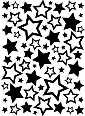 DARICE Emboss Folder - папка за релеф 108 х 146мм stars №63