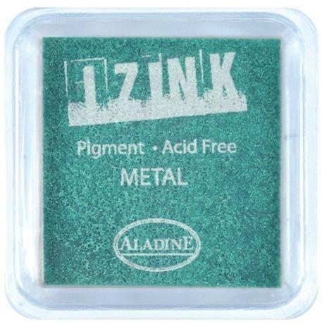 IZINK PAD PIGMENT - Среден тампон 4х4см - METAL GREEN