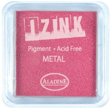 IZINK PAD PIGMENT - Среден тампон 4х4см - METAL PINK