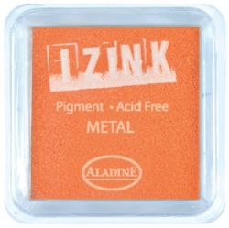 IZINK PAD PIGMENT - Среден тампон 4х4см - METAL YELLOW