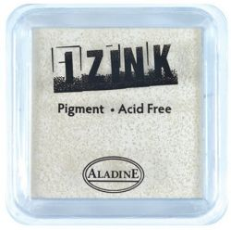 IZINK PAD PIGMENT - Среден тампон 4х4см - WHITE