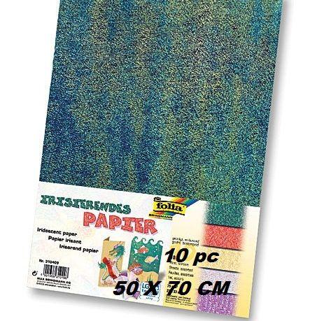 Iridescent Paper 50x70cm - 50Х70см пакет 10 листа