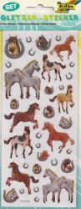 GLITZER STICKER -  глитер стикери HORSES