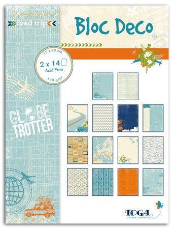 BLOC DECO GLOBE TROTTER -  Дизайн блок 28sheet, 15X20