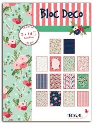 BLOC DECO LOVELY FLOWERS -  Дизайн блок 28sheet, 15X20