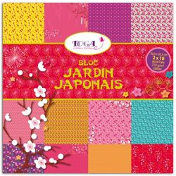 BLOC JAPANESE GARDEN 36sheets  - СКРАПБЛОК 36листа 210g / 30.5х30.5 см