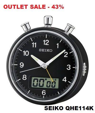 # SEIKO QHE114K - BEEP ALARM CLOCK + STOPWATCH & TIMER COUNTDOWN