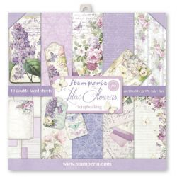 """STAMPERIA Double Face Sheets 10 Pack + 2free  - Дизайнерски блок 12""""x12"""" / LILAC"""