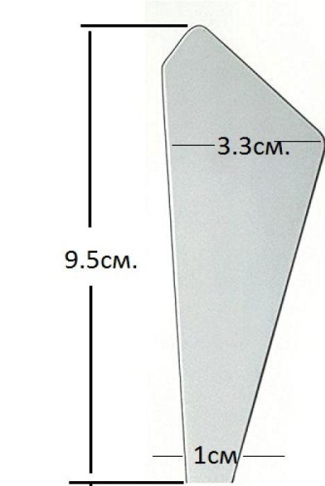 Spatula Stamperia, Italy - Деко шпатула 3,3 х 9 x 1 см.