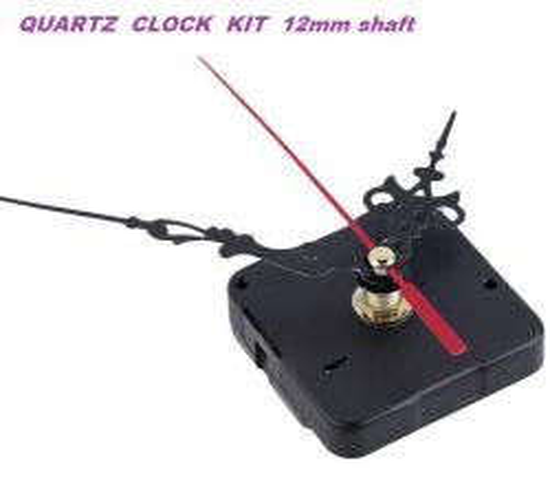 CLOCK quartz mechanism + HANDS - Часовников механизъм със стрелки 10cm , шпиндел 12мм