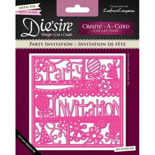 CARD Die'sire Create a Card -  Party Invitation Щанца картичка