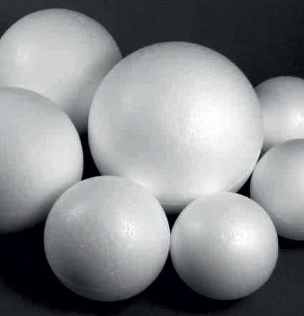 POLYSTYRENE BALL 15cm - Топка от стиропор 150 мм.две части