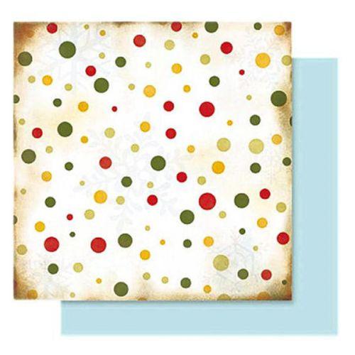 FB Christmas 04 - Дизайнерски картон с ембос-глитер елементи - 30,5 Х 30,5 см.