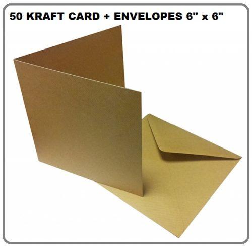 """KRAFT cards & envelopes 6"""" X 6"""" - 50 КРАФТ картички и пликове 15.2 Х 15.2"""