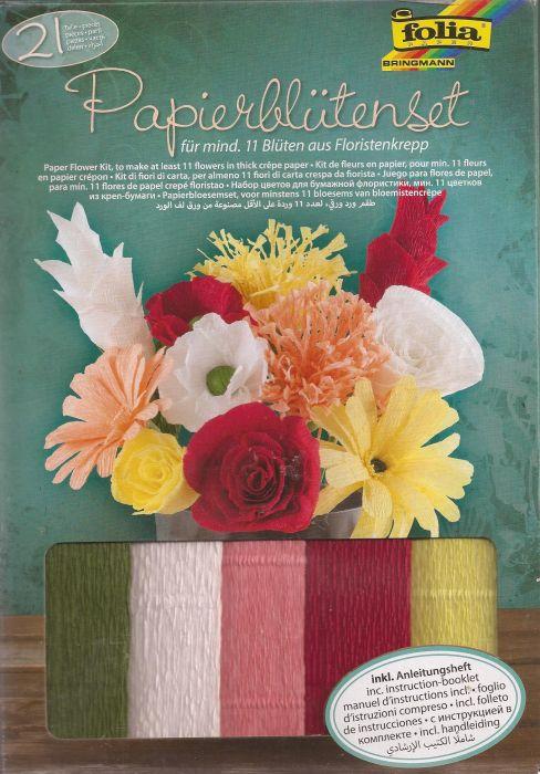 FOLIA PAPER FLOWER SET - Стартов комплект за изработка на цветя