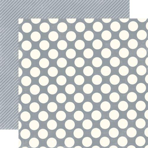 CONCRETE LARGE DOT - Дизайнерски скрапбукинг картон 30,5 х 30,5 см.