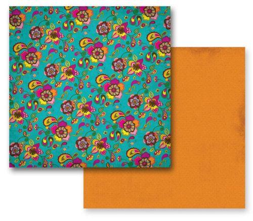 PRIMA PANAJI ,USA 12 X 12  - Дизайнерски скрапбукинг картон 30,5 х 30,5 см.