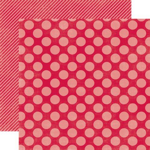 HOLLY BERRY LARGE DOT - Дизайнерски скрапбукинг картон 30,5 х 30,5 см.