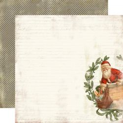 CARTA BELLA  Down the chimney ,USA 12 X 12  - Дизайнерски скрапбукинг картон 30,5 х 30,5 см.