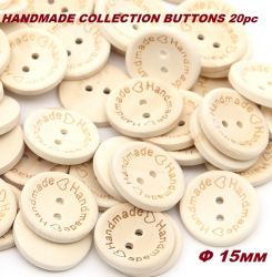 BUTTONS HANDMADE  COLLECTION - Дървени ДЕКО КОПЧЕТА 20бр