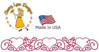 HEARTS Cheery Lynn ,USA - Шаблон за рязане и ембос b142
