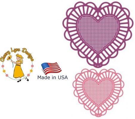 HEART by Cheery Lynn ,USA - Шаблон за рязане и ембос Сърца / dl128
