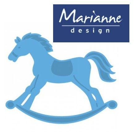 BABY by Marianne Design ROCKING HORSE - Шаблон за рязане и ембос LR0347
