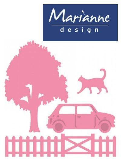 Marianne Design VILLAGE - Шаблон за рязане и ембос