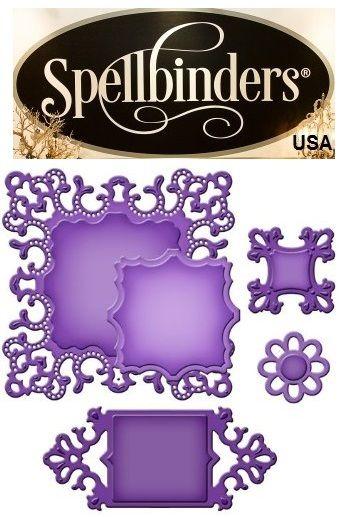 Spellbinders USA  - К-кт шаблони за изрязване и ембос s5-166