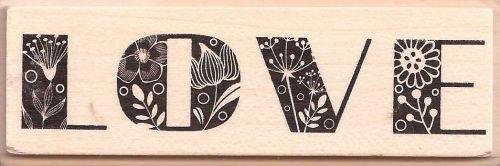 ALADINE STAMP E - Гумен печат на дървено блокче 01638 / 8,5х2,0 см
