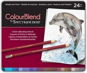 # Spectrum Noir Blendable Pencils SET - Метална кутия цветни дизайн моливи 24цв  -  SHADE & TONE