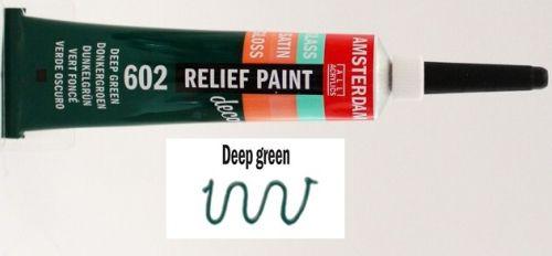 DECORFIN RELIEF, Talens 20ml - Контур за стъкло и др. повърхности - Зелено
