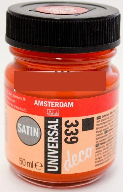 DECORFIN Universal satin, TALENS - Екстра фин акрил 50 ml, 339 LIGHT OXIDE RED
