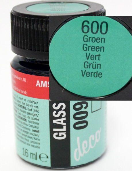 Decorfin Glass, TALENS - Витражна боя от най-високо качество, 16 мл. - Зелено