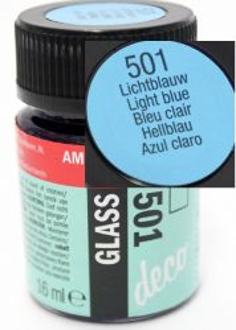 Decorfin Glass, TALENS - Витражна боя от най-високо качество, 16 мл. - Светло синьо