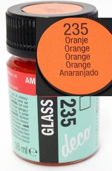 Decorfin Glass, TALENS - Витражна боя от най-високо качество, 16 мл. - Оранж