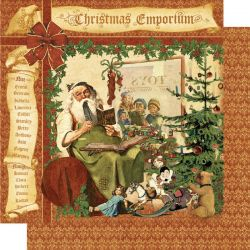 GRAPHIC45  Christmas Emporium paper  - Дизайнерски скрапбукинг картон 30,5 х 30,5 см.