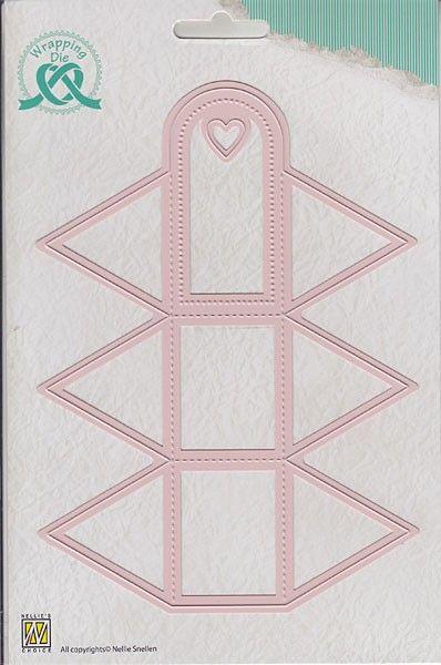 "BOX Nellie Snellen,""triangle-box"" 5 x 4 x 5 cm - Детайлна щанца за рязане и релеф, WPD004"