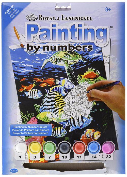 R&L USA A4 # Ocean Deep - Рисуване по номера * PJS74