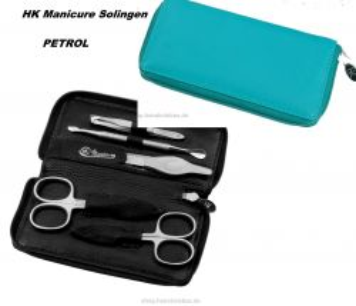 HK manicure SET Germany - Кожен несесер за маникюр PETROL