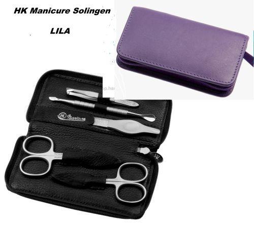 HK manicure SET Germany - Кожен несесер за маникюр LILA