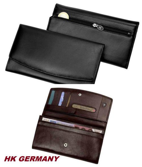 LONG PURSE WALLET Black - портфейл от естествена кожа HK Germany