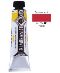 REMBRANDT ARTIST ACRYLIC 40ml -  ПРОФЕСИОНАЛНИ АКРИЛНИ БОИ #  CADMIUM RED MED