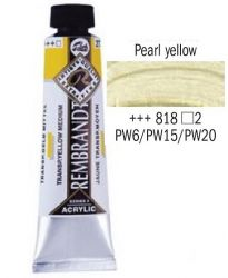 REMBRANDT ARTIST ACRYLIC 40ml -  ПРОФЕСИОНАЛНИ АКРИЛНИ БОИ #  PEARL YELLOW