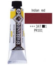 REMBRANDT ARTIST ACRYLIC 40ml -  ПРОФЕСИОНАЛНИ АКРИЛНИ БОИ # INDIAN RED